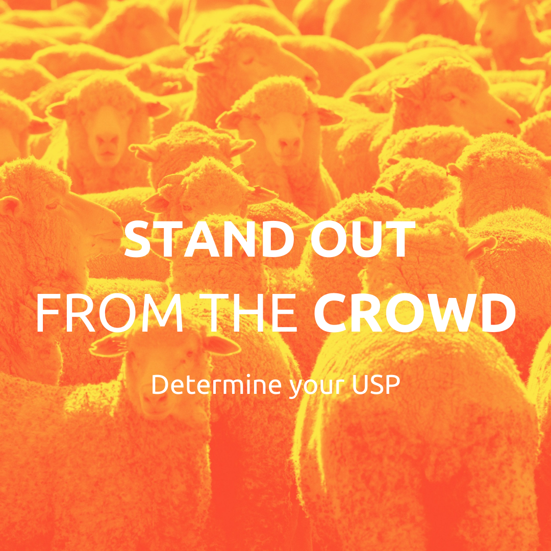 Determine your USP to Stand Out from the Crowd.